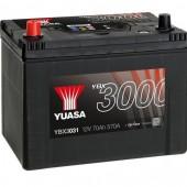 Аккумулятор YUASA YBX3031 70Ач  570А азия 262/175/226