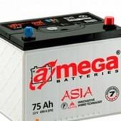 Аккумулятор amega asia m7 75Ач азия 690А  262/175/226