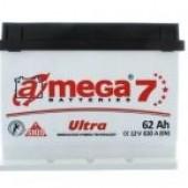 Аккумулятор  amega  ultra м7  6СТ- 62Ah   610A  243/175/190