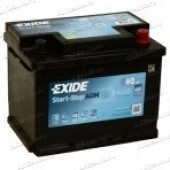 Аккумулятор EXIDE 60Ач AGM START-STOP EFB 680А 242/190/190
