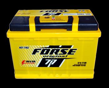 Аккумулятор  FORSE 77Ah   760A  278/175/190