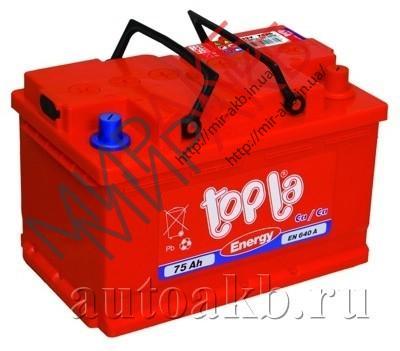 Аккумулятор  TOPLA 75Ач  720А  278/175/190
