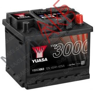 Аккумулятор  YUASA YBX3063 45Ач  425А  207/175/190