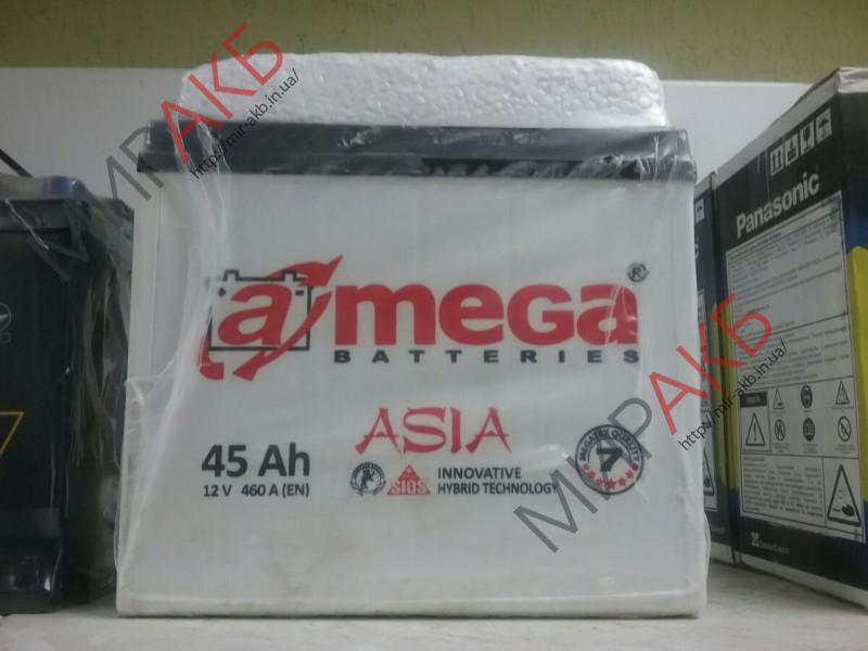 Аккумулятор  amega asia 45Ач 460 А азия 237/127/222