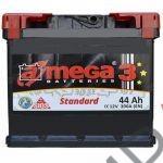 Аккумулятор  amega м3/Energy Box  6СТ- 44 Ah   390A  207/175/190