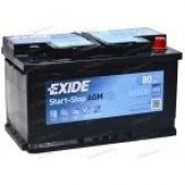 Аккумулятор  EXIDE 80Ач AGM START-STOP  850А  278/175/190