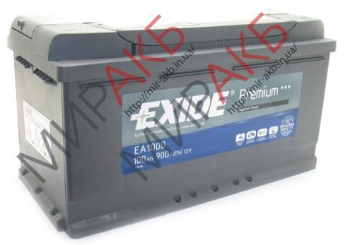 Аккумулятор  EXIDE 95Ач STAERT-STOP AGM  850А  295/176/190