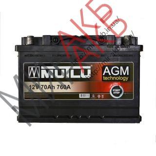 Аккумулятор  MUTLU 60Ач AGM  640А  242/175/190