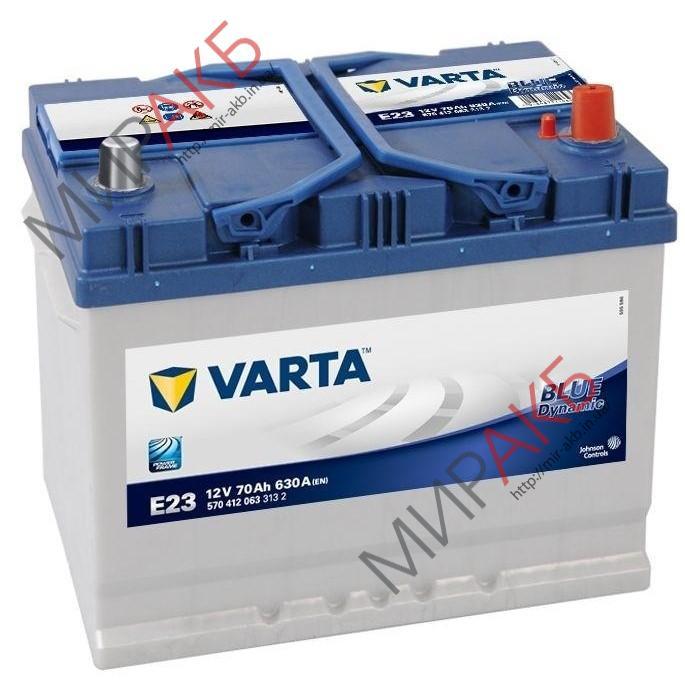 Аккумулятор  VARTA 70Ач  630А азия 262/175/226