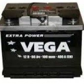 Аккумулятор VEGA  6CT 60Ah 480a 242/175/190