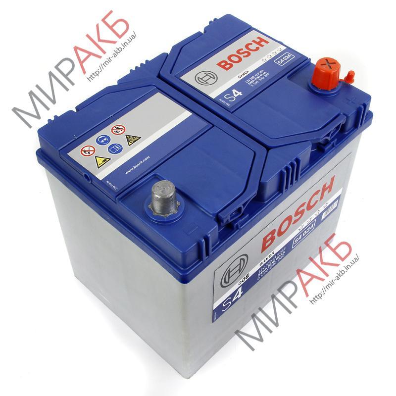 Аккумулятор   BOSCH 60Ач S4 SILVER 540 A азия 232/173/225