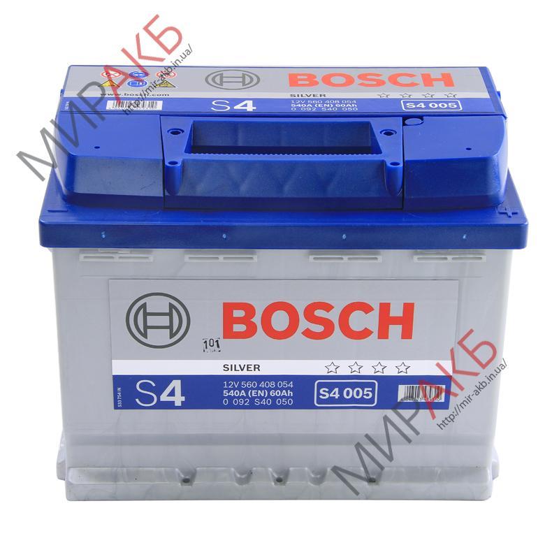 Аккумулятор BOSCH 60Ач S4 SILVER  540 A  242/175/190