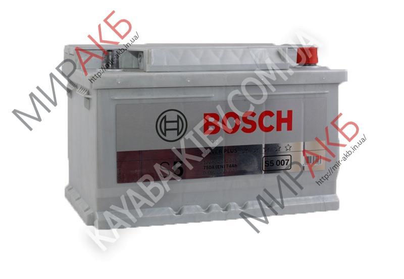 Аккумулятор BOSCH 74Ач S5 SILVER PLUS  750 A  278/175/175