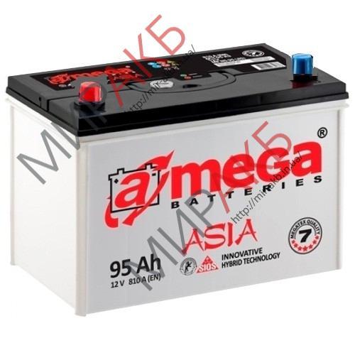 Аккумулятор  amega asia m7 95Ач азия  810А  310/176/225