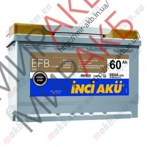 Аккумулятор YIGITAKU 60Ач START-STOP EFB 560 A   242/175/190