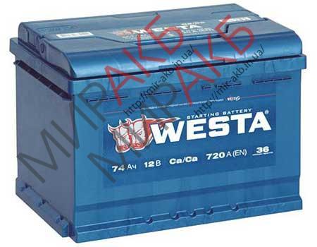 Аккумулятор WESTA  74Ah   720A  278/175/190