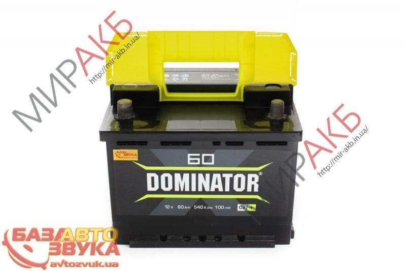 Аккумулятор DOMINATOR  6CT-60Ah 540A 242/175/190