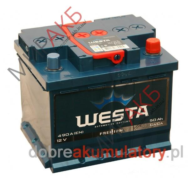 Аккумулятор WESTA  50Ah   400A  207/175/190