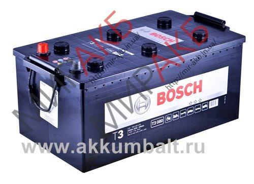 Аккумулятор   BOSCH 200Ач T3 BLACK 1050 A  518/276/242