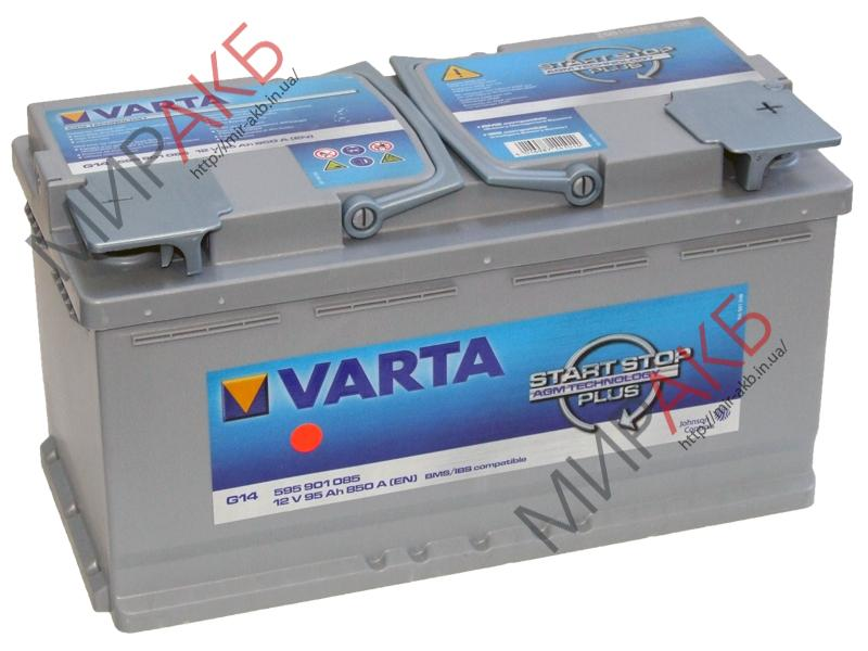 Аккумулятор  VARTA 95Ач  START-STOP AGM G14 850 A 393/175/190